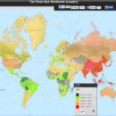 Mapa mundial do tamanho do pênis